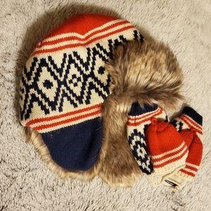 Gap kids winter hat and mittens